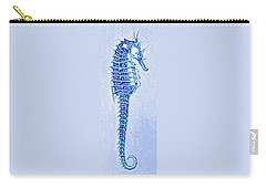 Aqua Seahorse- Right Facing Carry-all Pouch by Jane Schnetlage
