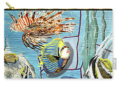 Carry-all Pouch featuring the painting Aquarium by Daniel Janda