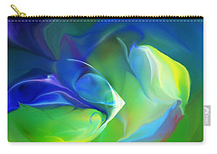 Carry-all Pouch featuring the digital art Aquatic Illusions by David Lane