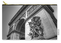 Arc De Triomphe In Black And White Carry-all Pouch