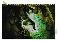 Carry-all Pouch featuring the digital art Archangel Uriel by Absinthe Art By Michelle LeAnn Scott