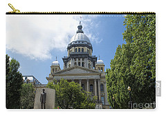 Illinois State Capitol  - Luther Fine Art Carry-all Pouch