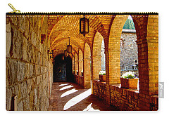 Archway By Courtyard In Castello Di Amorosa In Napa Valley-ca Carry-all Pouch