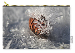 Arctic Pine Cone Porcupine Carry-all Pouch by Brian Boyle