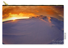 Carry-all Pouch featuring the photograph Arctic Sea Ocean Water Antarctica Winter Snow by Paul Fearn