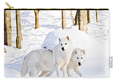Arctic Wolves Carry-all Pouch by Cheryl Baxter