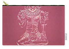 Carry-all Pouch featuring the drawing Ardhanarishvara II by Michele Myers