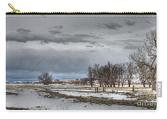 Carry-all Pouch featuring the photograph Ardmore Prairie by Bill Gabbert