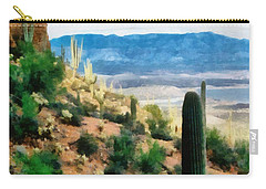 Arizona Desert Heights Carry-all Pouch by Michelle Calkins