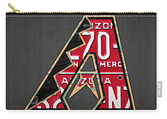 Arizona Diamondbacks Baseball Team Vintage Logo Recycled License Plate Art Carry-all Pouch