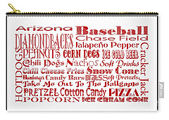 Arizona Diamondbacks Game Day Food 3 Carry-all Pouch