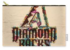 Arizona Diamondbacks Poster Vintage Carry-all Pouch by Florian Rodarte
