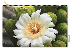 Arizona State Flower The Saguaro Blossom Carry-all Pouch