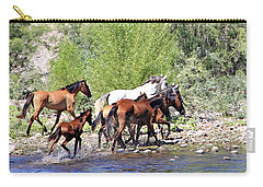 Arizona Wild Horse Family Carry-all Pouch