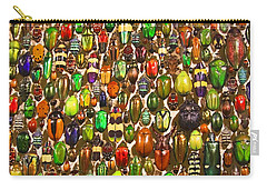Army Of Beetles And Bugs Carry-all Pouch