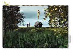 Carry-all Pouch featuring the digital art Arrival Of The Deceiver by John Alexander