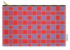 Art 1906 Elegant Graphic Pattern Squares Colorful Digitalart Graphicart Surface Texture Design Multi Carry-all Pouch