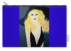 Art Deco Girl With Black Hat Carry-all Pouch