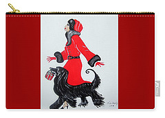 Art Deco  Girl With Red  Coat Carry-all Pouch