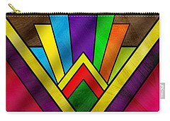 Art Deco Pattern 7v Carry-all Pouch