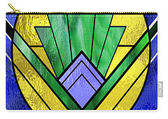 Art Deco - Pattern Two - Yellow Oval  Carry-all Pouch