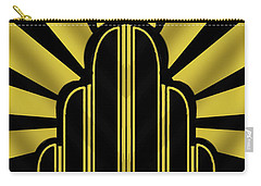 Art Deco Poster - Title Carry-all Pouch by Chuck Staley