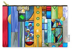 Art Deco Stained Glass 1 Carry-all Pouch