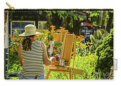 Art In The Garden Carry-all Pouch by Mary Carol Story