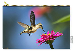 Art Of Hummingbird Flight Carry-all Pouch by Christina Rollo