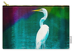 Art Of The Egret Carry-all Pouch
