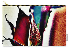 Carry-all Pouch featuring the photograph Artful Bud by Faith Williams