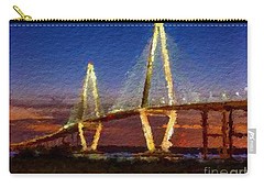Arthur Ravenel Bridge At Evening  Carry-all Pouch