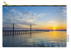 Carry-all Pouch featuring the photograph Calm Waters Over Charleston Sc by Dale Powell