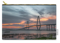 Carry-all Pouch featuring the photograph Orange Nebulous by Dale Powell