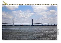 Carry-all Pouch featuring the photograph Arthur Ravenel Bridge by Sennie Pierson