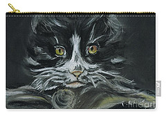 Carry-all Pouch featuring the pastel Arthur  by Teresa White