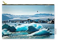 Artic Tern Over Jokulsarlon Glacier Lagoon Carry-all Pouch