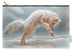 Artic White Wolf Carry-all Pouch by Joan  Minchak