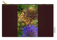Artichoke And Blossom  Carry-all Pouch by Michael Hoard