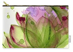 Artichoke Flower Carry-all Pouch by Dawn Derman