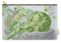 Artichokes Carry-all Pouch by Lizzie Riches