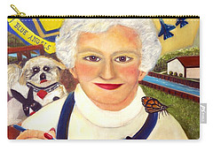 Artist At Work Portrait Of Mary Krupa Carry-all Pouch by Bernadette Krupa