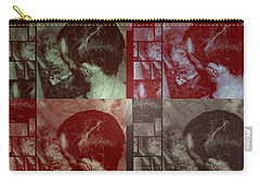 Carry-all Pouch featuring the photograph Artiste Stevo York Headpainting Part One by Sir Josef - Social Critic - ART
