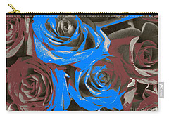 Carry-all Pouch featuring the photograph Artistic Roses On Your Wall by Joseph Baril