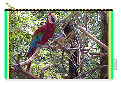 Carry-all Pouch featuring the photograph Artistic Wild Hawaiian Parrot by Joseph Baril