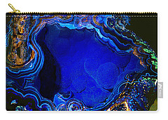 Artists Bisbee Velvet Beauty Azurite Carry-all Pouch