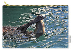 Artsy Sea Lion Carry-all Pouch by Susan Wiedmann