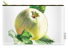 Carry-all Pouch featuring the painting Artz Vitamins Series A Happy Green Apple by Irina Sztukowski