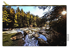 As Lawrence Welk Used To Say-ah Waterfall Waterfall Carry-all Pouch by Robert McCubbin