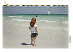 As The Sail Boat Rolls By Carry-all Pouch by Charles Beeler